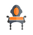 luxury antique armchair in dark and orange colors vector image vector image