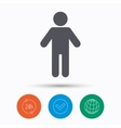 Man icon Male human sign vector image