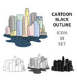 megalopolis icon in cartoon style isolated on vector image vector image