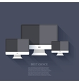modern flat technology background Eps 10 vector image vector image