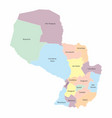 paraguay regions map vector image vector image