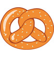 pretzel bread on white background vector image vector image