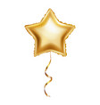 realistic golden balloon in form of star isolated vector image vector image