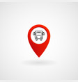 red location icon for bus stop eps file vector image