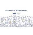 restaurant management doodle concept vector image