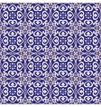 Seamless pattern azulejo dark blue vector image vector image