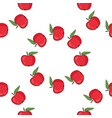 seamless pattern background with red apples vector image vector image