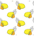 seamless pattern with lemon vector image vector image