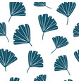 seamless pattern with tropical ginkgo leaves vector image
