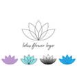 set line lotus flower or flower life sacred vector image vector image
