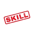 Skill Rubber Stamp vector image vector image
