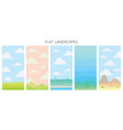 soft nature landscapes desert with mountains vector image vector image