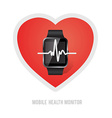 sport lifestyle health monitoring vector image