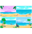 summer beach ocean or sea shore beaches vector image