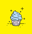 sweet cupcake icon vector image vector image