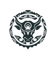 tattoo of a bull in polynesian style vector image