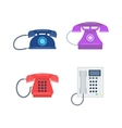 Telephones icons device vector image vector image