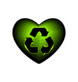 valentine day with the sign of the green arrows vector image vector image