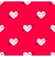 valentines hearts with arrows seamless vector image vector image