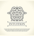 vintage decorative logo flourishes calligraphic vector image vector image