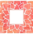 Watercolor red flower frame vector image vector image