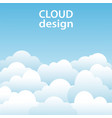 white clouds blue sky design background stock vector image vector image