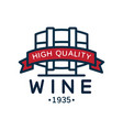 wine label 1935 high quality product logo vector image vector image