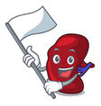 with flag spleen mascot cartoon style vector image