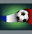 with soccet ball and flag of france vector image