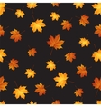 Autumn maple leaves seamless pattern background vector image