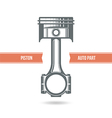 Car engine piston vector image