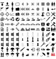 121 pictograms vector image