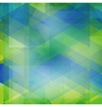 Abstract geometric shape from color triangles vector image vector image