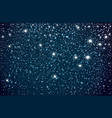 background with starry night sky falling snow vector image