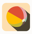 Beach Ball Icon vector image