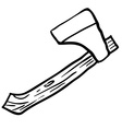 black and white axe vector image vector image