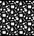 black and white cosmetics seamless pattern vector image vector image