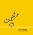 black scissors icon vector image