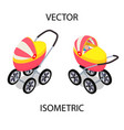 bright baby stroller for summer walks vector image vector image