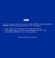 bsod screen old 98 error crash software vector image vector image