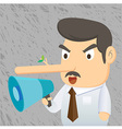 Business Man Lie vector image vector image