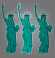 Cartoon statue liberty funny landmark united