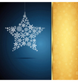 Christmas star snowflake design background vector image vector image