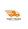 delivery services logo design courier logo design vector image vector image