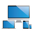 devices set laptop pc tablet smartphone vector image