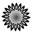 dot flower icon simple style vector image vector image