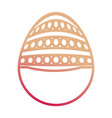 easter egg with dots and lines vector image vector image