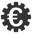 Euro Gear Flat Icon vector image vector image