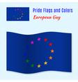 European gay pride flag with correct color scheme vector image vector image