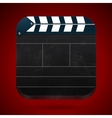 Film clap board cinema vector image vector image